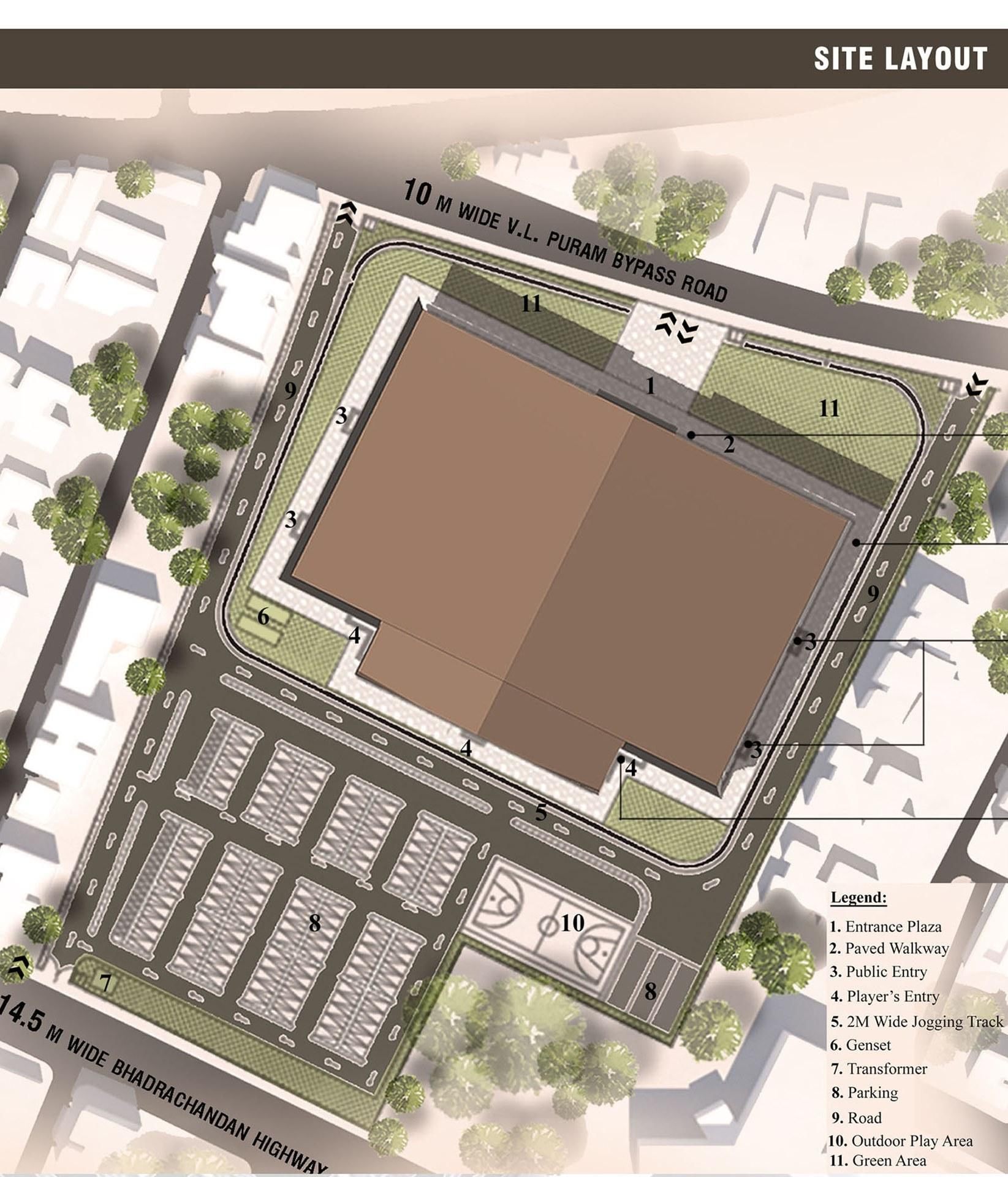3d Design Using Home Designer Chief Architect Multi Level: Indoor Stadium Complex, Rajahmundy